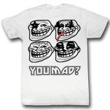 You Mad - White Kiss T-Shirt