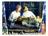 Bride of Frankenstein, Ernest Thesiger, Elsa Lanchester, Colin Clive, 1935 Photo