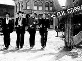 Gunfight at the O.K. Corral, Kirk Douglas, Burt Lancaster, John Hudson, Deforest Kelley, 1957 Fotografia