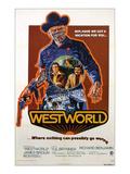 Westworld, Yul Brynner, James Brolin, Richard Benjamin, 1973 Photo