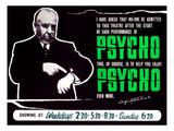 Psycho, Director Alfred Hitchcock On A British Quad, 1960 Foto