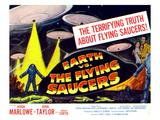 Earth vs. the Flying Saucers, 1956, Joan Taylor, Hugh Marlowe, 1956 Photo