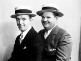 Stan Laurel and Oliver Hardy [Laurel & Hardy] in Early Hal Roach Studio Portrait Shot, c. Mid 1920s 写真