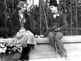 City Lights, Virginia Cherrill, Charlie Chaplin, 1931 Foto