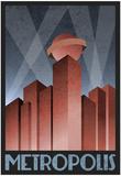Metropolis Retro Travel Poster Pósters