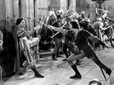 Adventures Of Robin Hood, Basil Rathbone, Errol Flynn, 1938 Fotografia