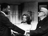 Guess Who's Coming To Dinner, Sidney Poitier, Katharine Houghton, Spencer Tracy, 1967 Photo