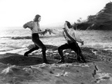 Captain Blood, Errol Flynn, Basil Rathbone, 1935 Photo
