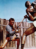 Spartacus, Kirk Douglas, Woody Strode, 1960 Photographie