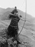Male And Female, Gloria Swanson, 1919, With Bow And Arrow Fotografia