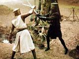 Monty Python And The Holy Grail, Graham Chapman As King Arthur, John Cleese, 1975 Foto