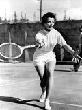 Pat And Mike, Katharine Hepburn Playing Tennis On The Set, 1952 Fotografia