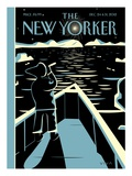 The New Yorker Cover - December 24, 2012 Giclée-Premiumdruck von Frank Viva