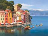 Portofino, Italian Riviera Poster by Adriano Galasso