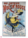 1896- Au Joyeux Moulin Rouge - Choubrac Lámina giclée por Alfred Choubrac