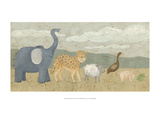 Animals All in a Row I Reproduction giclée Premium par Megan Meagher