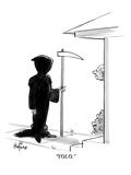 """YOLO."" - New Yorker Cartoon Premium Giclee Print by Kaamran Hafeez"