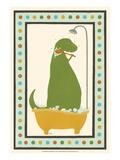 Rub-A-Dub Dino II Posters por Erica J. Vess