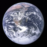 Earth View from Apollo 17 Moon Mission Photo