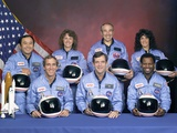 Crew Portrait of the Challenger Astronauts, Jan 28, 1986 Foto