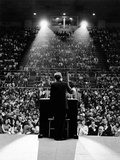 President John Kennedy Campaigns for Democrats in the Mid-Term Elections Foto