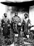Future Emperor Haile Selassie (Left) with Emperor Lidi Yassou, Emperor (Center) and Iere Binu (AA F Foto