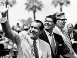 Pres Richard Nixon, Gov Ronald Reagan and Donald Johnson, Administrator of Veterans Affairs Photo