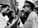Chicago African American Policeman Tries to Calm a Crowd Photo