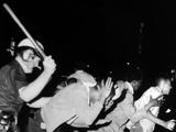 Police Club Demonstrators in Harlem on July 20, 1964 Photo
