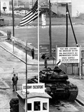 American Checkpoint on the Friedrichstrasse Crossing Point on the East-West Berlin Border Foto