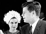 Princess Grace of Monaco and President John F Kennedy Fotografía