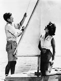 Senator John F Kennedy and Fiancée Miss Jacqueline Bouvier of Newport, Jun 26, 1953 Foto
