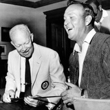 Former President Dwight Eisenhower Enjoys a Laugh with Famed Golfer, Arnold Palmer, Aug 12, 1965 Foto