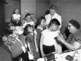 Children Inoculated Against Diphtheria Foto