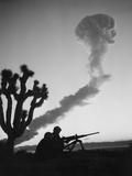 Us Marines During Atomic Bomb Testing Foto