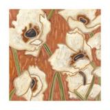 Persimmon Floral III Posters par Karen Deans