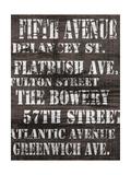 Streets of New York II Posters av Andrea James