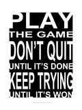 Play the Game I Plakat av Andrea James