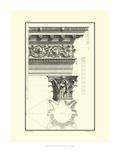 Crackled B&W Column and Cornice II Art by Giovanni Borra