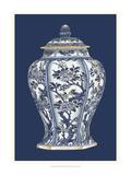 Blue and White Porcelain Vase II Reproduction giclée Premium par  Vision Studio