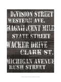 Streets of Chicago I Posters av Andrea James