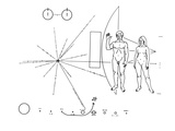Pictorial Plaque of the Pioneer F Spacecraft Destined for Interstellar Space Foto