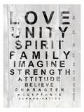 Eye Chart I Poster av Andrea James