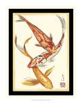 Koi Fish II Kunstdrucke von Chariklia Zarris