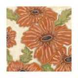 Persimmon Floral IV Affiches par Karen Deans