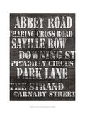 Streets of London I Posters av Andrea James