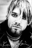 Kurt Cobain - Face & Signature Affiches