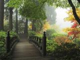 Portland Japanese Garden in Autumn, Portland, Oregon, USA Fotoprint van Michel Hersen