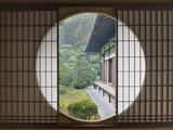Tea House Window, Sesshuji Temple, Kyoto, Japan Fotografisk trykk av Rob Tilley