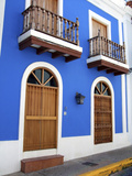 Typical Colonial Architecture, San Juan, Puerto Rico, USA, Caribbean Photographic Print by Miva Stock